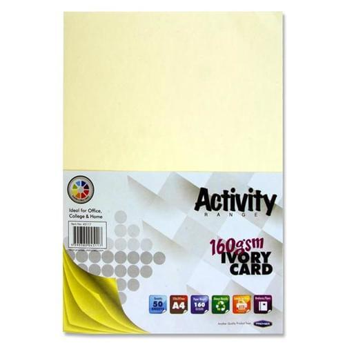 A4 160gsm ACTIVITY CARD 50 SHEETS - IVORY