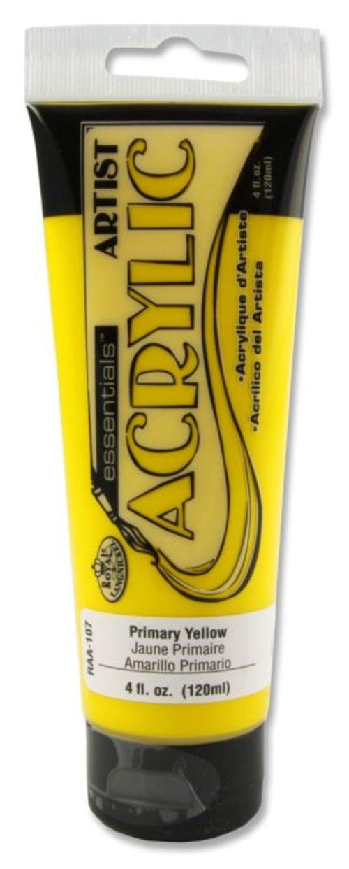 Icon Acrylic Paint 120ml Primary Yellow