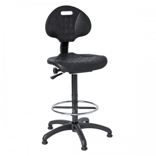 OL Series High Rise PU Static Swivel Lab Stool