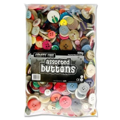 Large 500g Bag of Assorted Buttons