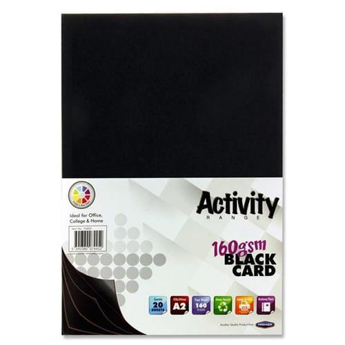 A2 Black Card 160gsm (20 sheets)