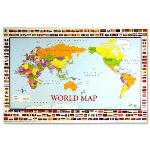 Map of the World Wall Chart