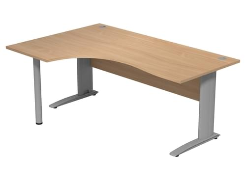 Komo 1800mm Left Hand Radial Desk with Cantilever Legs - Beech