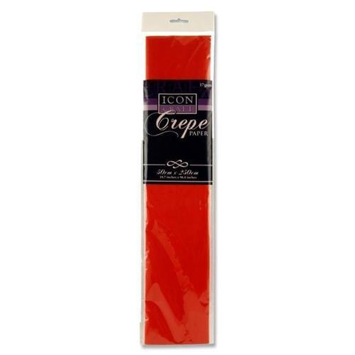 Crepe Paper 250cm x 50cm - Red