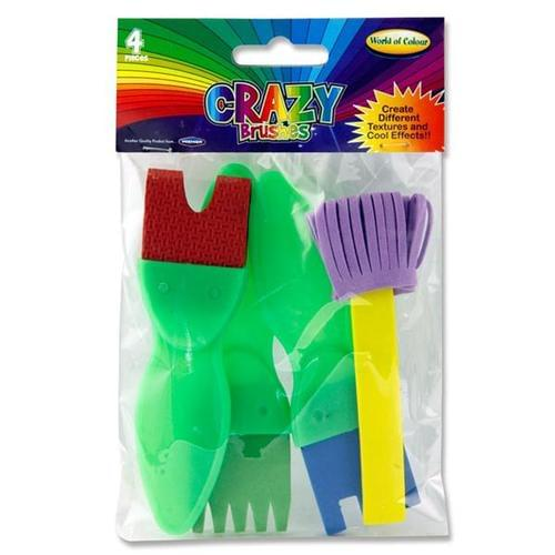 CRAZY PAINT BRUSHES (Pack of 4)