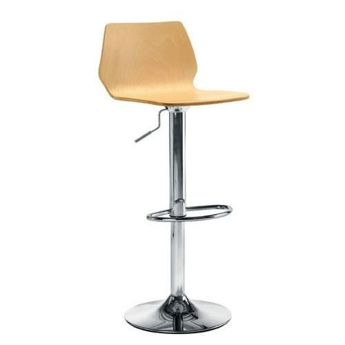 STORK GAS-LIFT TALL CAFE STOOL - Beech