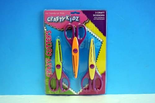Crafty Kidz - Card Craft Scissors 3 pack