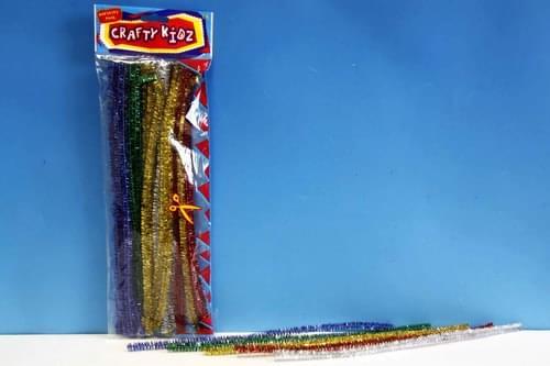 Crafty Kidz - 12 Inch Assorted Glitter Stems