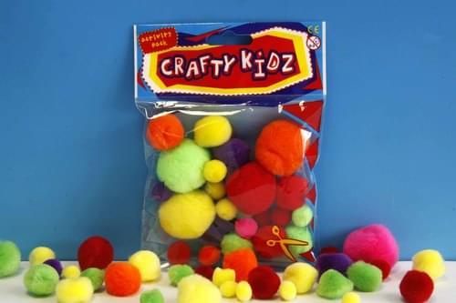 Crafty Kidz - Neon Pom Poms (Pack of 30)