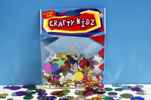 Crafty Kidz - Assorted Spangle Mix 25g
