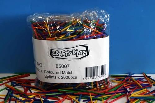 Crafty Kidz - Match Splints - Assorted Colours 2000 pk