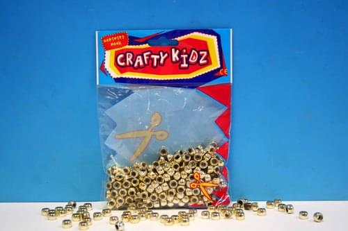 Crafty Kidz - Gold Beads 90g