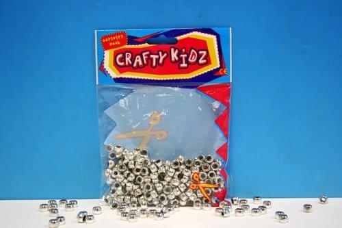 Crafty Kidz - Silver Beads 90g
