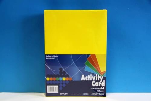 A4 Rainbow Card 160 gsm 250 sheets per pack