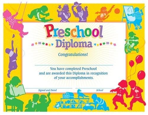 Preschool Awards - Preschool Classic Diploma