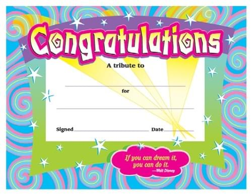 Colourful Classic Certificates - Congratulations