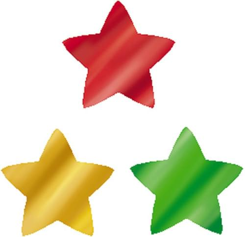 Colourful Foil Stars