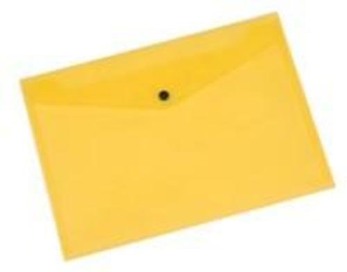 Q-Connect Doc Folder Polyprop A4 Yellow  (Pack of 12)