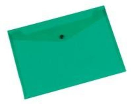 Q-Connect Doc Folder Polyprop A4 Green (Pack of 12)