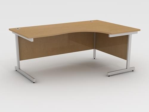 Beech Right Hand Radial Desk 1800mm x 1200mm