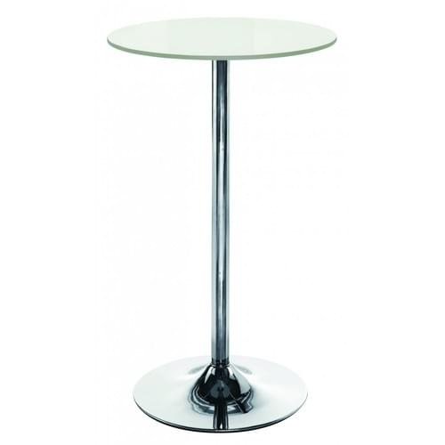 White High Canteen breakfast Room table D600 x H1045 mm