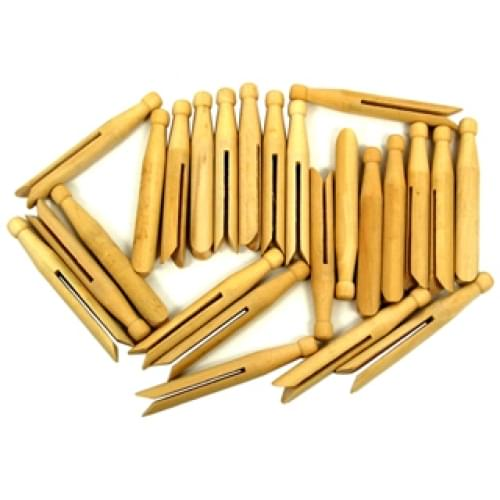 DOLLY PEGS - NATURAL (Pack of 24)