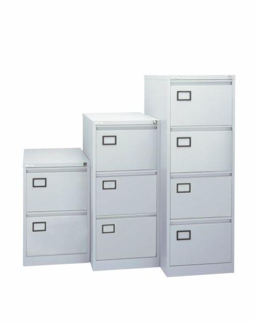 2 Drawer Metal Filing cabinet Grey