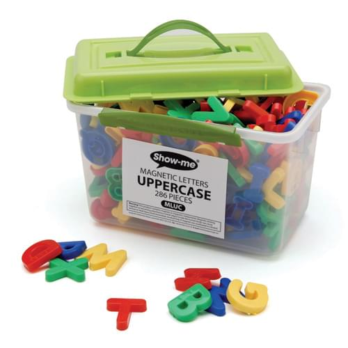 Tub of 286 magnetic uppercase letters