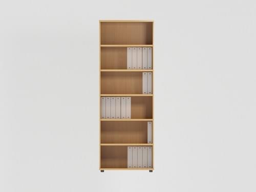 Open Bookcase 2210mm - 6 Level - Beech