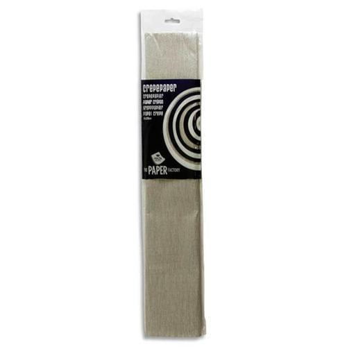 Crepe Paper 250cm x 50cm - Silver