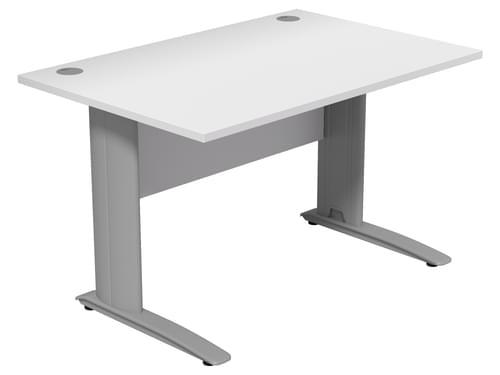 Komo Straight Desk Cantilever Legs 1200w x 800D x 725H - White