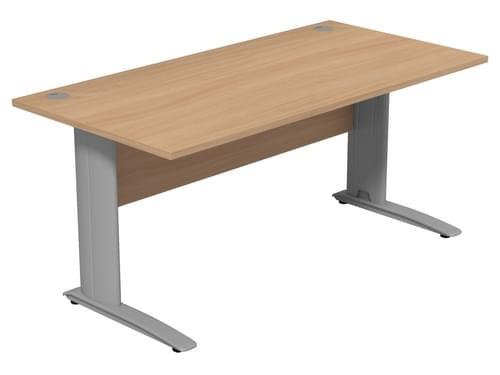 Komo Straight Desk Cantilever Legs 1600w x 800D x 725H Beech