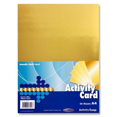 A4 Card Gold 25 sheets