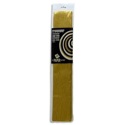 Crepe Paper 250cm x 50cm - Gold