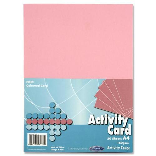 A4 160gsm ACTIVITY CARD 50 SHEETS - PINK