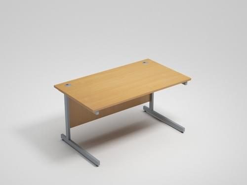 New Straight Office Desk with Cantilever Legs W1200 x D800mm