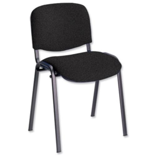 Black Fabric Stackable Conference Chair Black Frame