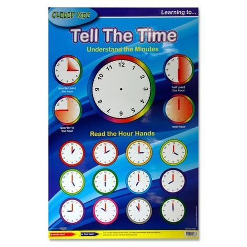 WALL CHART - LEARN THE CLOCK