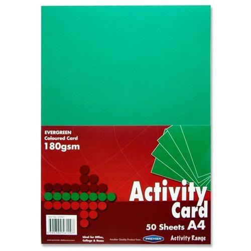 A4 Card 160gsm (50 sheets) - Evergreen