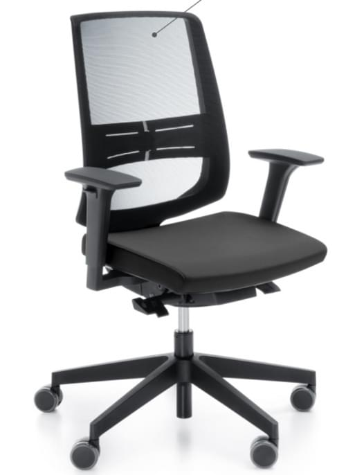 Mesh High Back Executive Chair with Adj Arms & Lumbar support