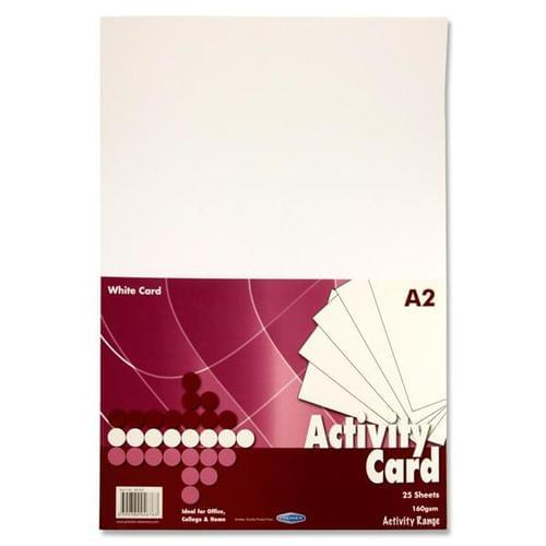 A2 White Card 160gsm (25 sheets)