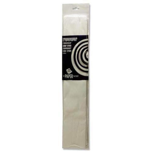 Crepe Paper 250cm x 50cm - White