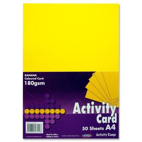 A4 Card 180gsm (50 sheets) - Yellow