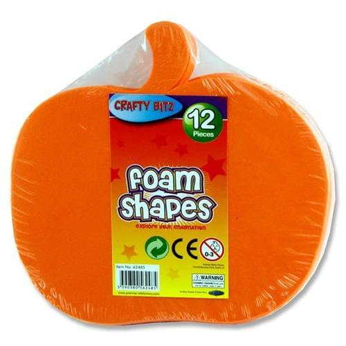 FOAM SHAPES - PUMPKINS (pack of 12)