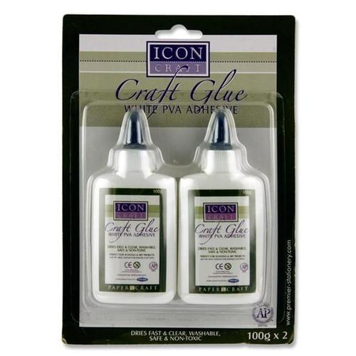 ICON CRAFT CARD 2 x 100g CRAFT PVA GLUE