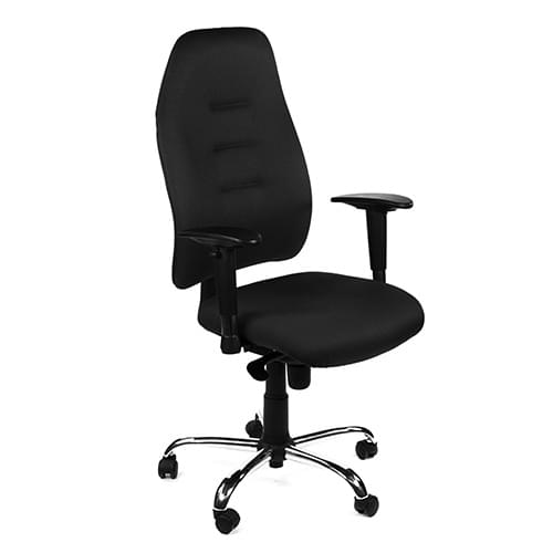 Positura Heavy Duty Operator Armchair Black Leatherette
