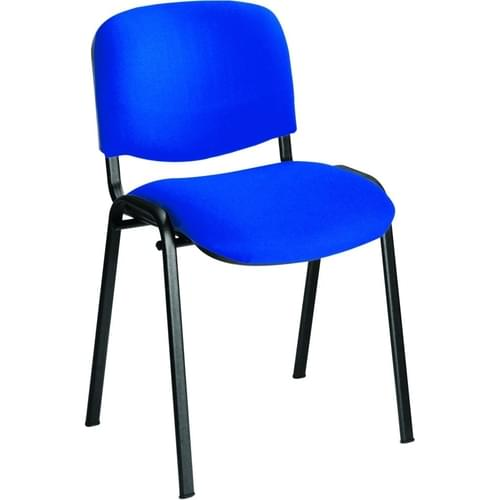 Blue Fabric Stackable Conference Chair Black Frame