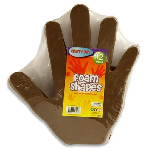 FOAM SHAPES - HAND (pack of 12)