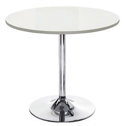 White Canteen Table White top Diameter 800mm *  H740mm