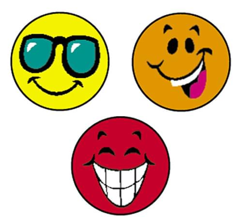 Happy smiles Super Spot Stickers